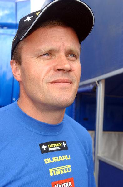 2002 World Rally Championship.Neste Rally Finland, Jyvaskyla Finland, August 8-11th.Tommi MakinenPhoto: Ralph Hardwick/LAT