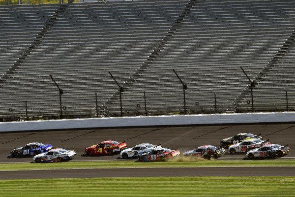 #61: Austin Hill, Motorsports Business Management, Toyota Supra Aisin Group and #90: Ronnie Bassett Jr., DGM Racing, Chevrolet Camaro Bassett Gutters & More