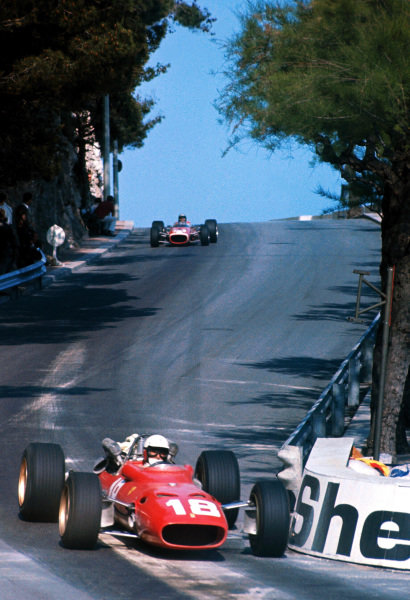 Lorenzo Bandini (ITA) Ferrari 312, suffered fatal injuries following a crash at the chicane on lap 82. Formula One World Championship, Rd2, Monaco Grand Prix, Monte-Carlo, Monaco. 7 May 1967. BEST IMAGE