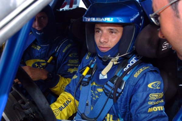 Stephane Sarrazin (FRA) Subaru Impreza World Rally Championship, Rd5, Rally Italia Sardinia, Shakedown, Olbia, Sardinia, Italy, 28 April 2005.DIGITAL IMAGE