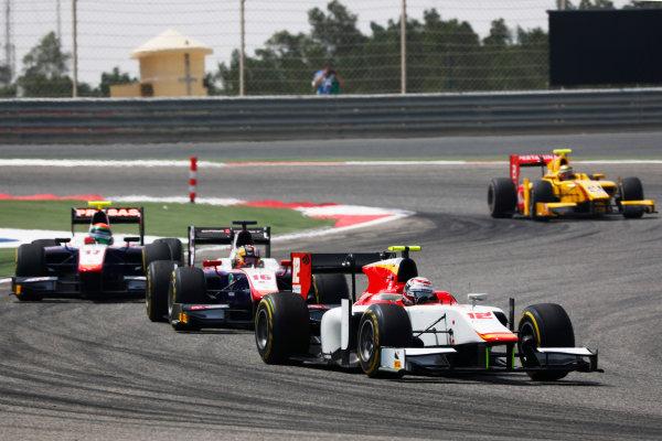 2017 FIA Formula 2 Round 1. Bahrain International Circuit, Sakhir, Bahrain.  Saturday 15 April 2017. Stefano Coletti (MON, Campos Racing) followed by Nabil Jeffri (MAS, Trident)  Photo: Zak Mauger/FIA Formula 2. ref: Digital Image _W6I0300