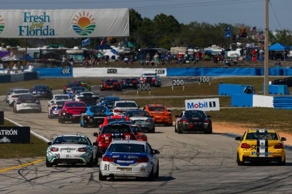 2017 IMSA Continental Tire SportsCar Challenge Visit Sebring 120 Sebring International Raceway, Sebring, FL USA Friday 17 March 2017 Continental Tire SportsCar Challenge, Start World Copyright: Jake Galstad/LAT Images ref: Digital Image lat-galstad-SIR-0317-14009