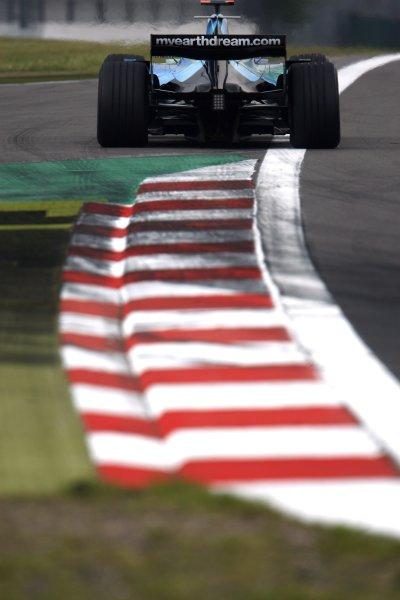 2007 European Grand Prix - Friday PracticeNurburgring, Germany.20th July 2007.Jenson Button, Honda RA107. Action. World Copyright: Andrew Ferraro/LAT Photographicref: Digital Image _H0Y0526