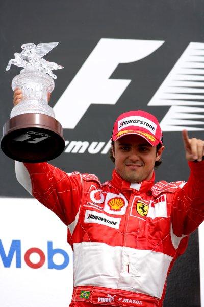 2006 German Grand Prix - Sunday Race Hockenheim, Germany. 27th - 30th July. Felipe Massa, Ferrari 248F1, 2nd position, podium. World Copyright: Lorenzo Bellanca/LAT Photographic ref: Digital Image ZD2J2111
