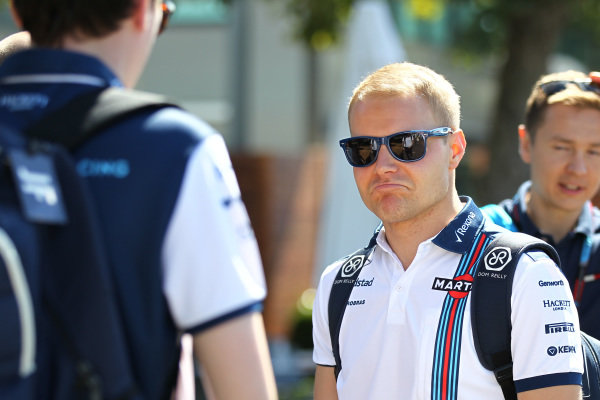 Valtteri Bottas (FIN) Williams at Formula One World Championship, Rd1, Australian Grand Prix, Preparations, Albert Park, Melbourne, Australia, Wednesday 11  March 2015.