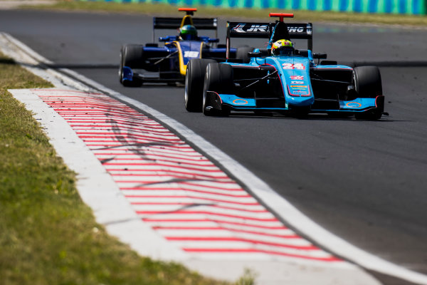 2017 GP3 Series Test 4.  Hungaroring, Budapest, Hungary. Wednesday 7 June 2017. Arjun Maini (IND, Jenzer Motorsport)  Photo: Zak Mauger/GP3 Series Media Service. ref: Digital Image _56I2168