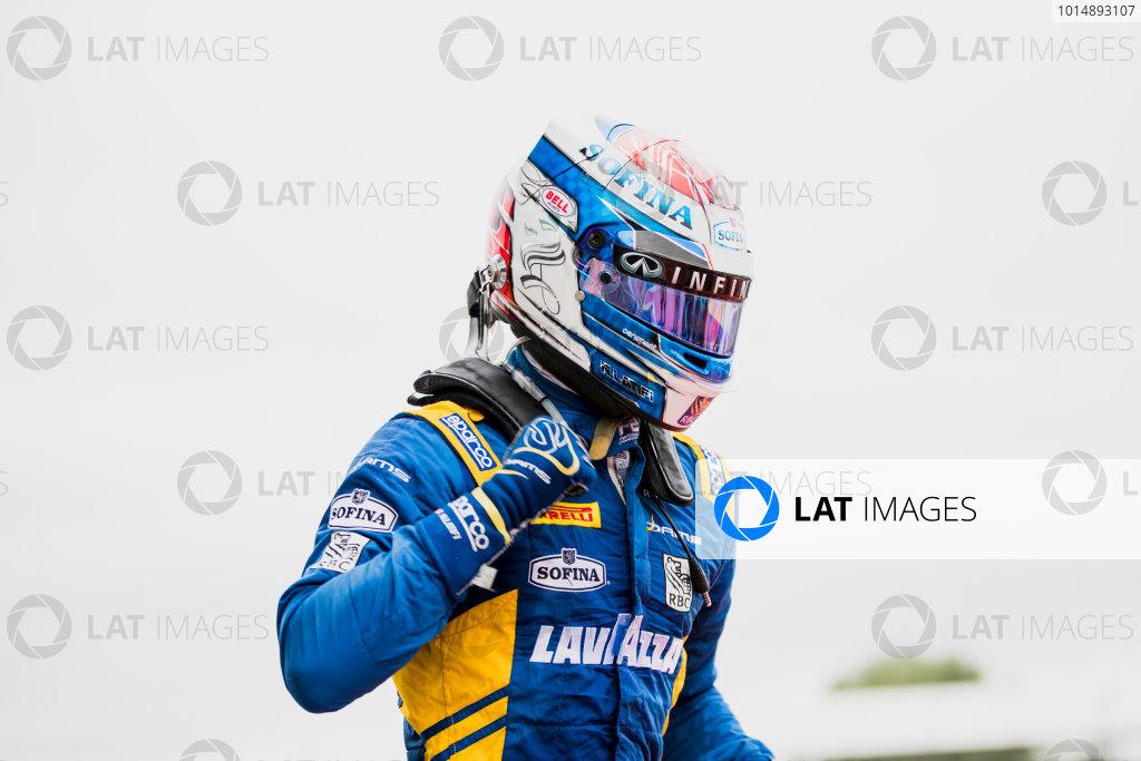 2017 FIA Formula 2 Round 6. Silverstone, Northamptonshire, UK. Sunday 16 July 2017. Nicholas Latifi (CAN, DAMS).  Photo: Zak Mauger/FIA Formula 2. ref: Digital Image _56I0656
