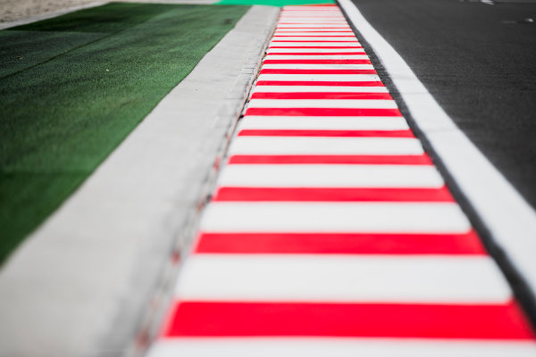 2017 GP3 Series Round 4.  Hungaroring, Budapest, Hungary. Thursday 27 July 2017. Kerb detail. Photo: Zak Mauger/GP3 Series Media Service. ref: Digital Image _54I0101