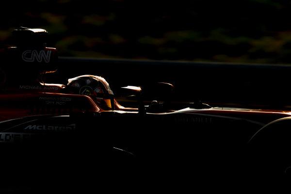 Hungaroring, Budapest, Hungary. Wednesday 2 August 2017. Lando Norris, McLaren MCL32 Honda. World Copyright: Zak Mauger/LAT Images ref: Digital Image _56I9893