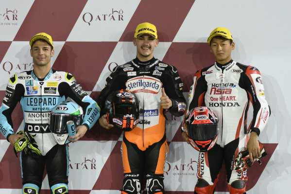 Top 3 after QualifyingLorenzo Dalla Porta, Leopard Racing, Aron Canet, Max Racing Team, Kaito Toba, Honda Team Asia.