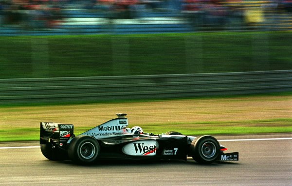 1998 Luxembourg Grand PrixNurburgring, Germany. 25-27 September 1998.David Coulthard (McLaren MP4/13 Mercedes-Benz) 3rd position.World Copyright - LAT Photographic