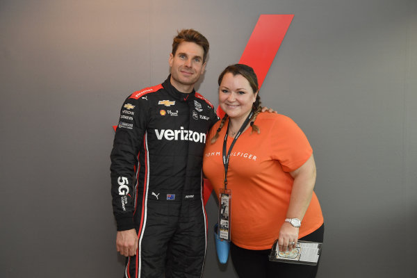 Will Power, Team Penske Chevrolet, suite appearance , autograph session, posing with Verizon guests