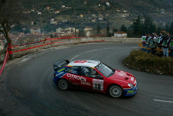 2003 FIA World Rally Championship. Monte Carlo, Monaco. Rd1.23-26 January 2003.Carlos Sainz/Marc Marti (Citroen Xsara) 3rd position.World Copyright:www.mcklein de/LAT Photographicref: Digital Image