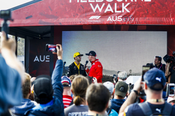 Daniel Ricciardo, Renault on the Melbourne Walk