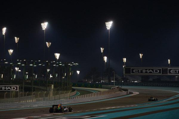 Sergio Perez (MEX) Force India VJM07. Formula One World Championship, Rd19, Abu Dhabi Grand Prix, Race, Yas Marina Circuit, Abu Dhabi, UAE, Sunday 23 November 2014.  BEST IMAGE