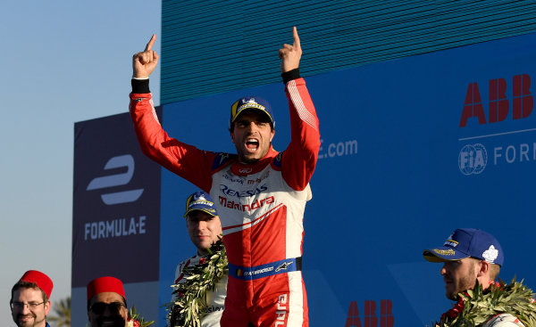 Jérôme d'Ambrosio (BEL), Mahindra Racing, 1st position, celebrates victory