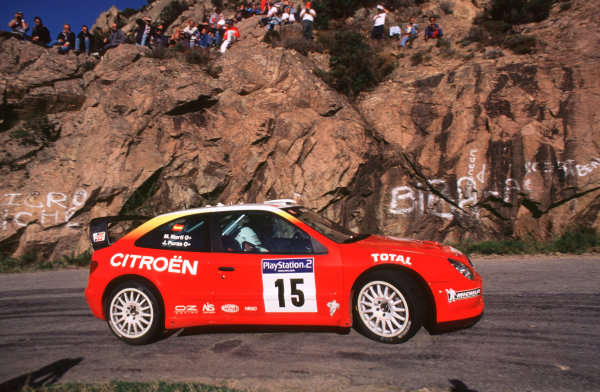 2001 FIA World Rally ChampsRallye de France, Ajaccio, Corsica, 18th-21st October 2001.Jesus Puras in the Citreon, action.World Copyright: LAT Photographic/McKlein.ref: 35mm Image A03