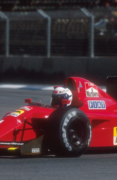 1990 Australian Grand Prix.Adelaide, Australia.2-4 November 1990.Alain Prost (Ferrari 641) 3rd position.Ref-90 AUS 32.World Copyright - LAT Photographic