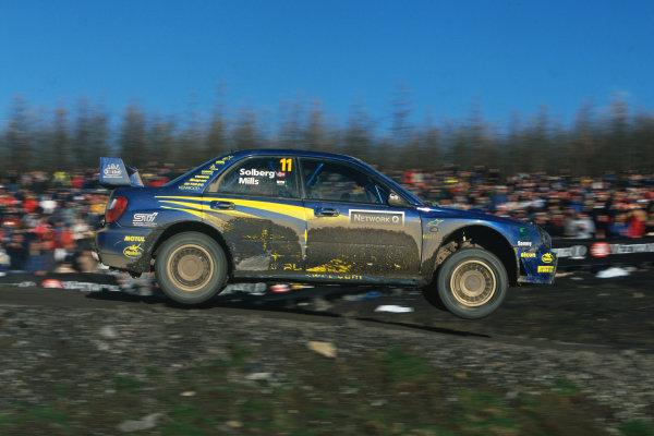 2002 World Rally Championship. Rally GB, Great Britain. 14-17 November 2002. Petter Solberg/Phil Mills (Subaru Impreza WRC), 1st position. World Copyright: LAT Photographic Ref: 35mm transparency 02RALLY14  www.latphoto.co.uk +44(0)20 8267 3000