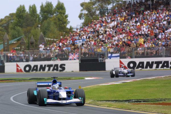 Australian Grand Prix.Albert Park, Melbourne, Australia. 2-4 March 2001.Kimi Raikkonen (Sauber C20 Petronas) 6th position.World Copyright - LAT Photographicref-8 9MB Digital Image