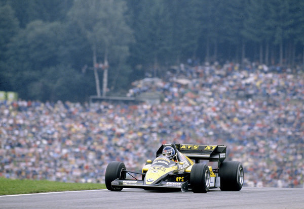 1984 Austrian Grand Prix.Osterreichring, Zeltweg, Austria.17-19 August 1984.Gerhard Berger (ATS D7 BMW) 12th position.Ref-84 AUT 20.World Copyright - LAT Photographic