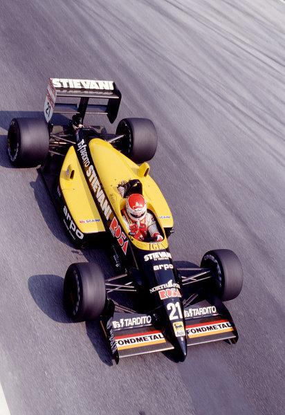 1988 Italian Grand Prix.Monza, Italy.9-11 September 1988.Nicola Larini (Osella FA1L Alfa Romeo).Ref-88 ITA 29.World Copyright - LAT Photographic