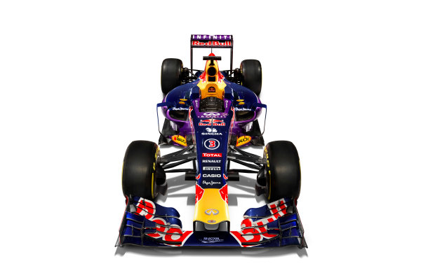 Infiniti Red Bull Racing RB11 Studio Images. Milton Keynes, UK. Sunday 1 March 2015. The Red Bull Racing RB11. Photo: Red Bull Racing (Copyright Free FOR EDITORIAL USE ONLY) ref: Digital Image RB11_LIVERY_07