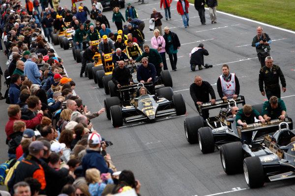 Snetterton, Norfolk. UK. 20th June 2010.Historic Team Lotus F1 Cars. World Copyright: Alastair Staley/LAT PhotographicDigital Image _O9T1676 jpg