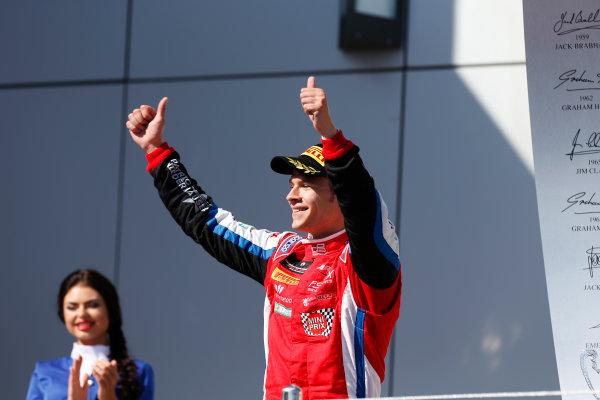 2014 GP3 Series. Round 8.   Sochi Autodrom, Sochi, Russia. Sunday Race 2 Sunday 12 October 2014. Patric Niederhauser (SUI, Arden International) on the podium. Photo: Alastair Staley/GP3 Series Media Service. ref: Digital Image _79P5761