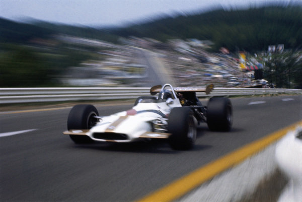 Pedro Rodriguez, BRM P153 out of Eau Rouge.