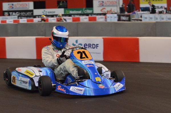 Nicolas Hamilton (GBR). ERDF Masters Karting, Bercy, Paris, France, 10-11 December 2011.