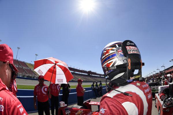 Scott Dixon (NZL) Target Ganassi Racing.Verizon IndyCar Series, Rd18, MAVTV 500, Auto Club Speedway, Fontana, USA, 29-30 August 2014.