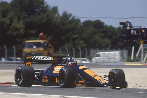 Paul Ricard, Le Castellet, France. 1st - 3rd July 1988. Philippe Streiff (AGS JH23-Ford), retired, action.  World Copyright: LAT Photographic. Ref: 88FRA 62