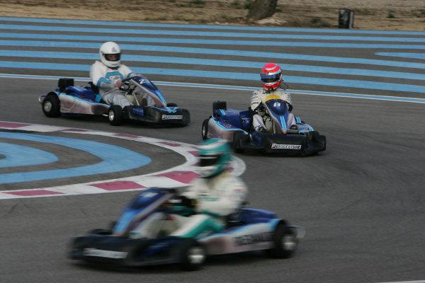 2005 GP2 Karting Challenge13th June 2005 Nelson Piquet Jr. (BR, Hitech Piquet Racing). Action. Circuit Paul Ricard, FranceWorld Copyright: GP2 SeriesDigital Image Only