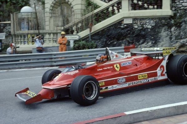1980 Monaco Grand Prix.Monte Carlo, Monaco. 15-18 May 1980.Gilles Villeneuve (Ferrari 312T5), 5th position.World Copyright: LAT PhotographicRef: 35mm transparency 80MON17