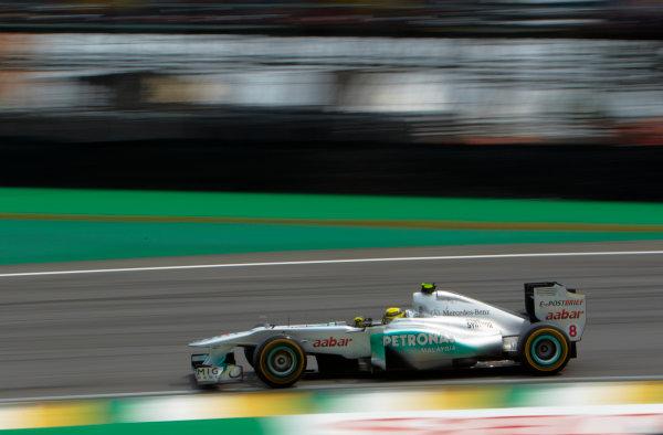 Interlagos, Sao Paulo, Brazil. 26th November 2011. Nico Rosberg, Mercedes GP W02. Action.  World Copyright: Steve Etherington/LAT Photographic ref: Digital Image SNE27351