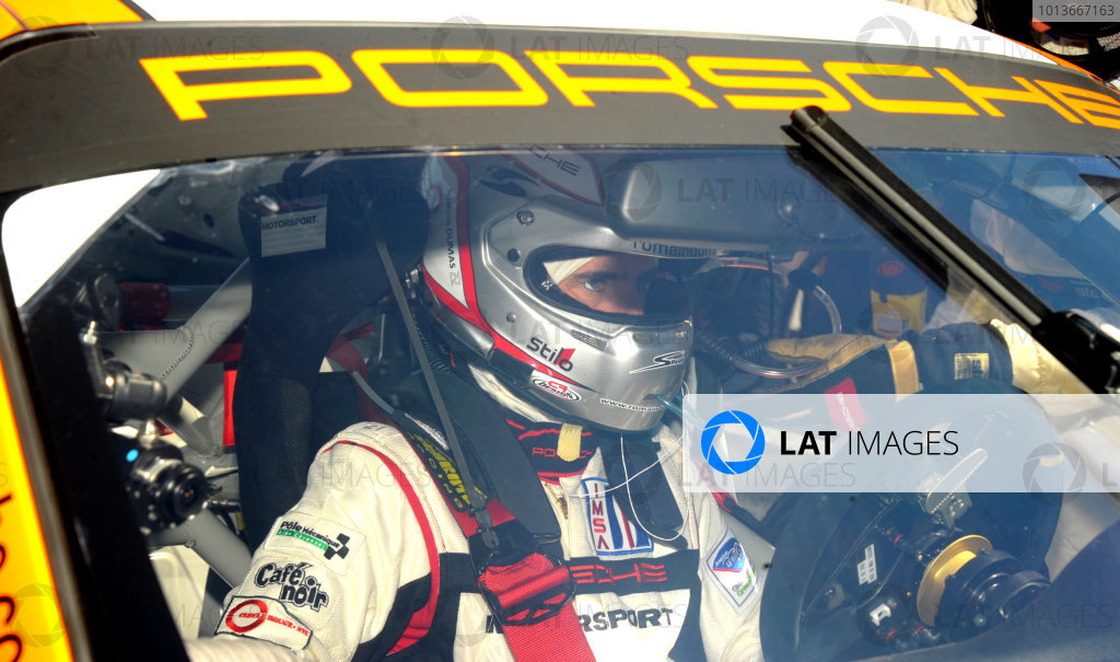 16-18 September, 2011, Monterey, California USA#911 Porsche Motorsport's Romain Dumas.(c)2011,  Dan R. Boyd  LAT Photo USA