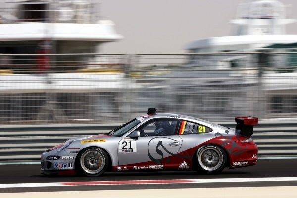 Thomas Jaeger (GER) Abu Dhabi Race Team. Porsche Supercup, Rd 12 & 13, Practice Day, Yas Marina Circuit, Abu Dhabi, UAE, Friday 30 October 2009.