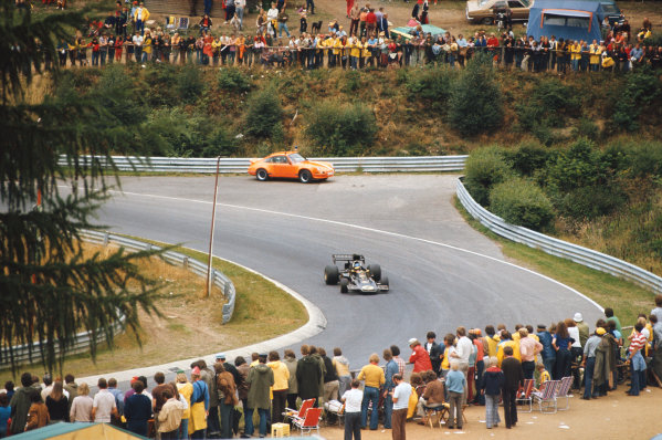1973 German Grand Prix.  Nurburgring, Germany. 3-5th August 1973.  Ronnie Peterson, Lotus 72E Ford, retired.  Ref: 73GER28. World Copyright: LAT Photographic