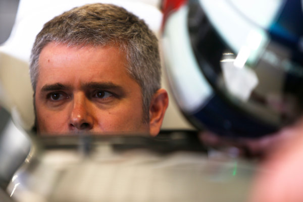 FIA Formula E Test Day, Donington Park, UK.  3rd - 4th July 2014.  Gil de Gerran, Andretti Autosport. Photo: Zak Mauger/FIA Formula E ref: Digital Image _L0U4424