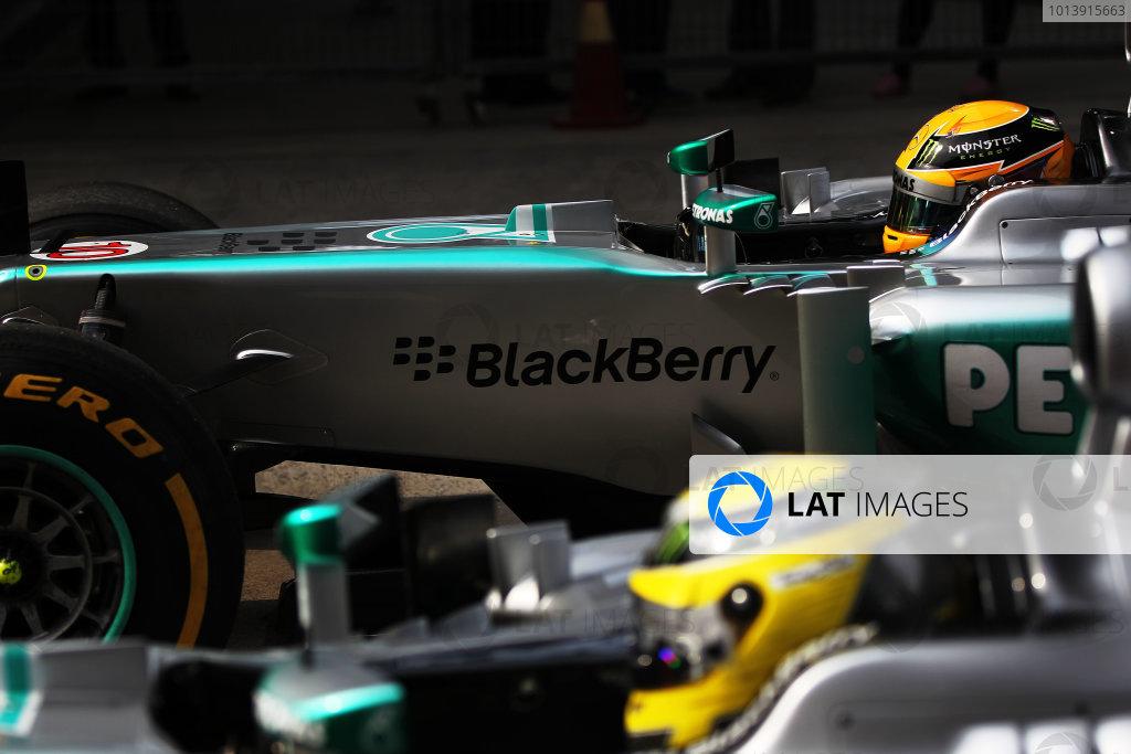 Shanghai International Circuit, Shanghai, China Saturday 13th April 2013 Lewis Hamilton, Mercedes W04, arrives in Parc Ferme. World Copyright: Andy Hone/LAT Photographic ref: Digital Image sat_china_hamilton_01