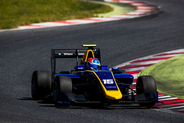 2016 GP3 Series Test 2. Circuit de Catalunya, Barcelona, Spain. Thursday 20 April 2017. Tatiana Calderon (COL, DAMS)  Photo: Zak Mauger/GP3 Series Media Service. ref: Digital Image _56I5446