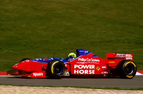 Nurburgring, Germany.26-28 April 1996.Ricardo Rosset (Footwork FA17 Hart) 11th position.Ref-96 EUR 04.World Copyright - LAT Photographic