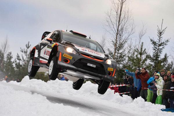Robert Kubica (POL) / Maciek Szczepaniak (POL), Ford Fiesta RS WRC at World Rally Championship, Rd2, Rally Sweden, Preparations and Shakedown, Karlstad, Sweden, 12 February 2015.