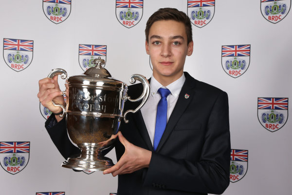 2014 BRDC Annual Awards The Grand Connaught Rooms, London, UK Monday 8 December 2014. McLaren Autosport BRDC Young Driver Award winner George Russell. World Copyright: Ebrey/LAT Photographic. ref: Digital Image Russell-02