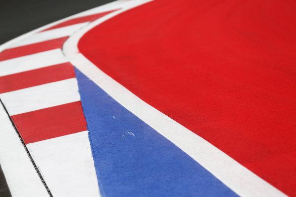 2014 GP3 Series. Round 8.   Sochi Autodrom, Sochi, Russia.  Wednesday 8 October 2014. painted track Photo: Sam Bloxham/GP3 Series Media Service. ref: Digital Image _SBL5966