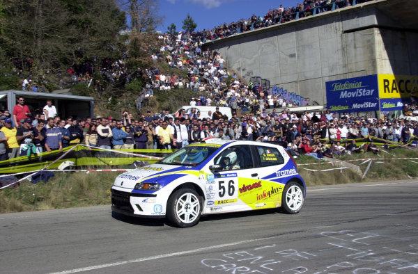 2001 World Rally Championship.   Catalunya Rally, Spain.  22nd - 25th March 2001. Rd 4.  Giandomenico Basso, Fiat Punto Super 1600 on Stage 15. World Copyright: Ralph Hardwick / LAT Photographic. Ref: Basso4