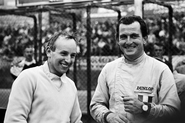 John Surtees and teammate Ludovico Scarfiotti.