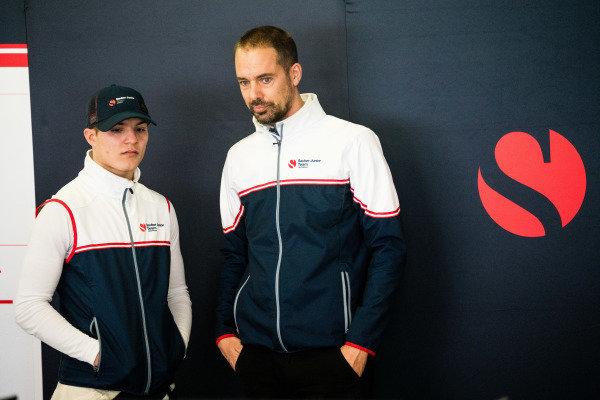 Lirim Zendeli (DEU) Sauber Junior Team by Charouz with engineer Michiel Gommers