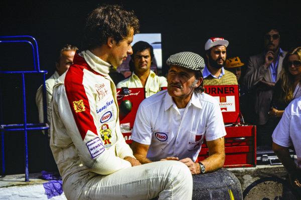 Tony Brise with Graham Hill.